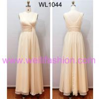 Large picture Long Cheap Pleated Chiffon Bridesmaid Dresses