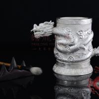 Large picture Gifts & Crafts of  Silver Penholder with a Dragon
