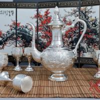 Large picture Silver Wine Sets for Auspiciousness
