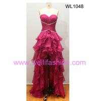 Large picture Long BSexy eading Pleated Chiffon Evening Dresses