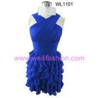Large picture Short Pleated Chiffon Cocktail Dresses