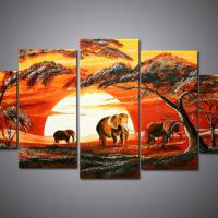 Large picture scenic oil painting for wall decoration