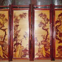 Large picture vietnam best price bamboo painting