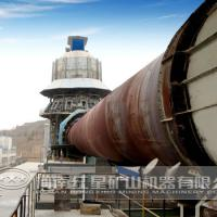 Large picture calcinating rotary kiln
