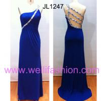 Large picture Long Beading Crystal Hemp Evening Dresses