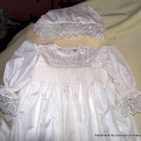 Large picture smocked christening gowns