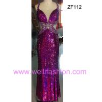 Large picture Long Beading Applique Sequin Evening Dresses