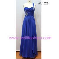 Large picture Long Applique Pleated Chiffon Evening Dresses