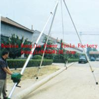 Tripod erecting pole machine
