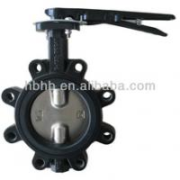 Large picture ductile iron lug butterfly valve Lever