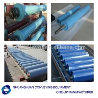 Large picture Rubber flat conveyor roller or idler for mine