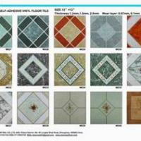 Large picture self stick vinyl floor tile