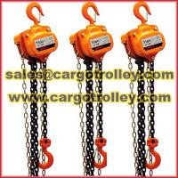 Large picture Manual chain hoist details
