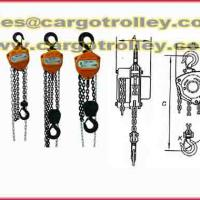 Large picture Chain hoist for lifting and moving heavy loads