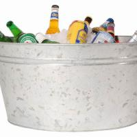 Large picture galvanized metal bucket ice bucket