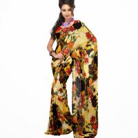 Large picture Multi Colored Faux Georgette Saree