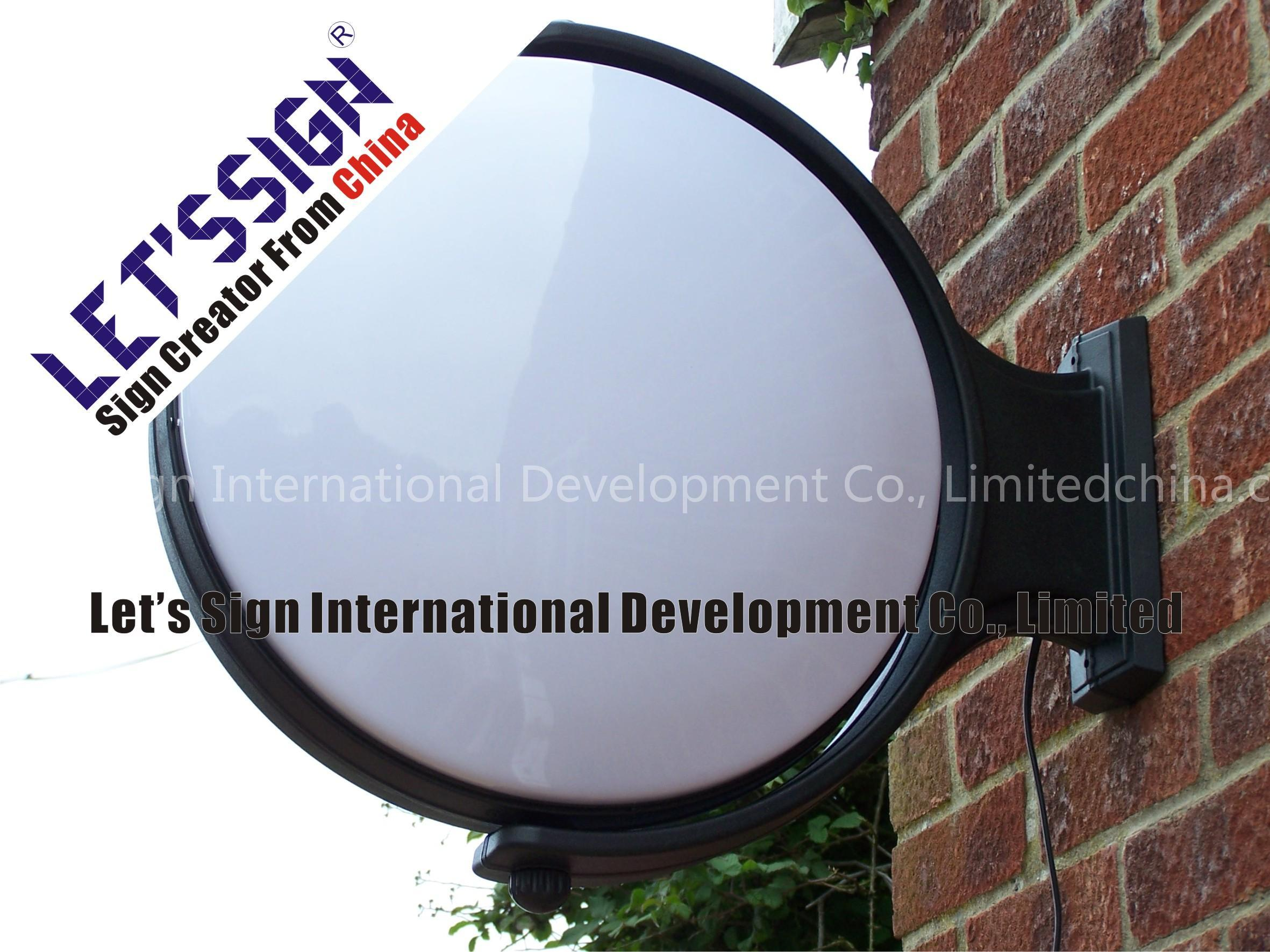 Double Sided Outdoor Round Rotating Light Box Lsyxxz003 1